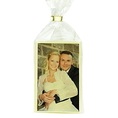 Schokovisitenkarten personalisiert (Hochformat) mit Ihrem individuellen Foto/Motiv einzeln verpackt in der Tüte - in 10er Einheiten - gleich auf Amazon selbst gestalten
