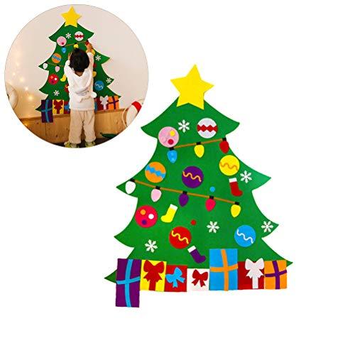 Doe-het-zelf vlies kerstboom muur raam kinderen kerstversiering