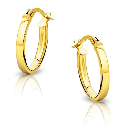 Orovi Women Gold Hoop Earrings 9 ct / 375 Yellow Gold