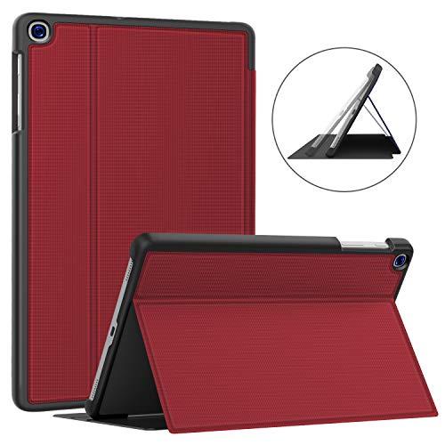 Soke Hülle für Samsung Galaxy Tab A 10.1 2019 (SM-T510/T515), Folio Ständer Ultraleicht TPU Schutzhülle für Galaxy Tab A 10.1 Zoll 2019, rot