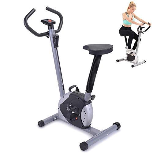 WGFGXQ Faltbares Magnet-Heimtrainer Indoor-Fitnessgeräte Radfahren Spinning Bike Home Trainer Höhenverstellbar mit Geschwindigkeitswiderstand