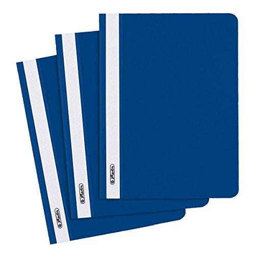 10 Herlitz Schnellhefter / DIN A5 / PP / Farbe: blau