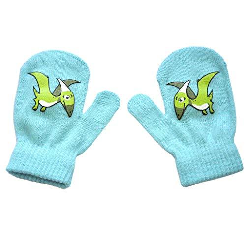 Noband JSFGFSDH - Guantes de invierno para niños pequeños, cálidos, con estampado de dinosaurios, elásticos, para 1 – 5 años de edad