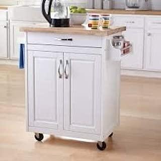 Mainstays Kitchen Island Cart, Multiple Finishes (White)