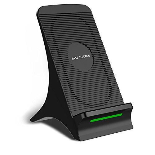 LVYE1 MRMF Cargador inalámbrico rápido de 10 W, iPhone 11/11 Pro / 11 Pro MAX/XS/XR/XS MAX/X / 8 / 8Plus Compatible de 7.5W, Carga rápida de 10W para Galaxy S10 + / S10e / S9 / S8 / Note9