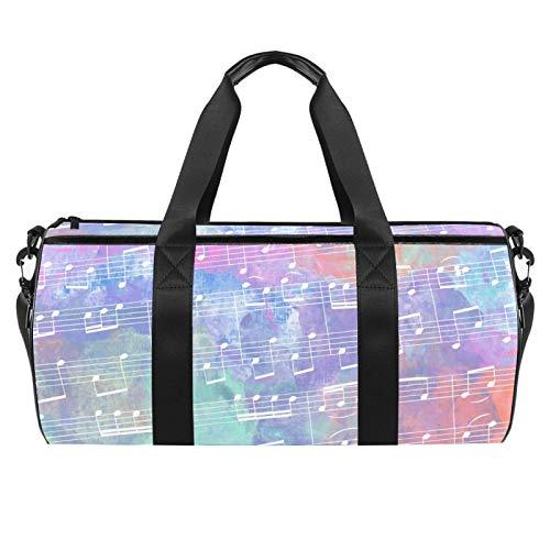 Xingruyun Sporttasche Kinder farbige Noten Badetasche Gym Tasche schwimmtasche Schultertaschen Reisetasche Urlaubstasche klein Fitnesstasche Sport-Taschen für Mädchen Jungen 45x23x23cm