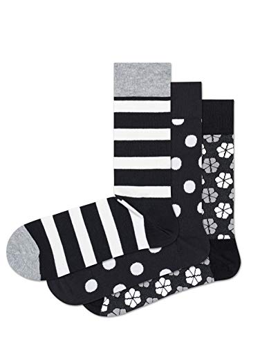 Happy Socks HS by Herren Hs 3-Pack Stripe Socken, Mehrfarbig (Multicolour 900), 7-10 (Herstellergröße: 41-46)