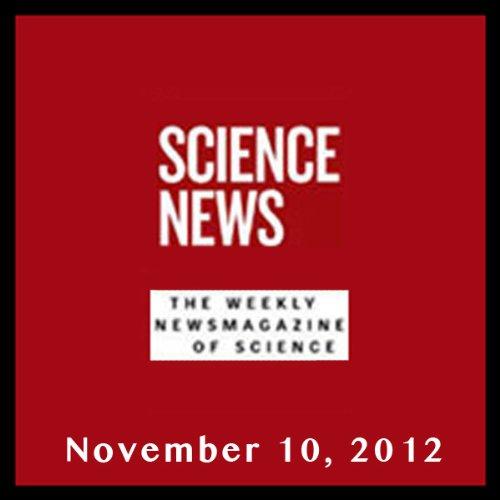 Science News, November 10, 2012 cover art