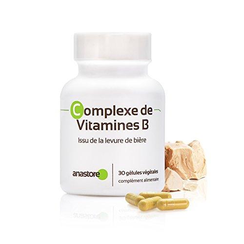 COMPLEJO DE VITAMINAS B * 500 mg / 30 cápsulas * cansancio, estrés, carencia de vitaminas B * Garantía de satisfacción o reembolso * Fabricado en Francia