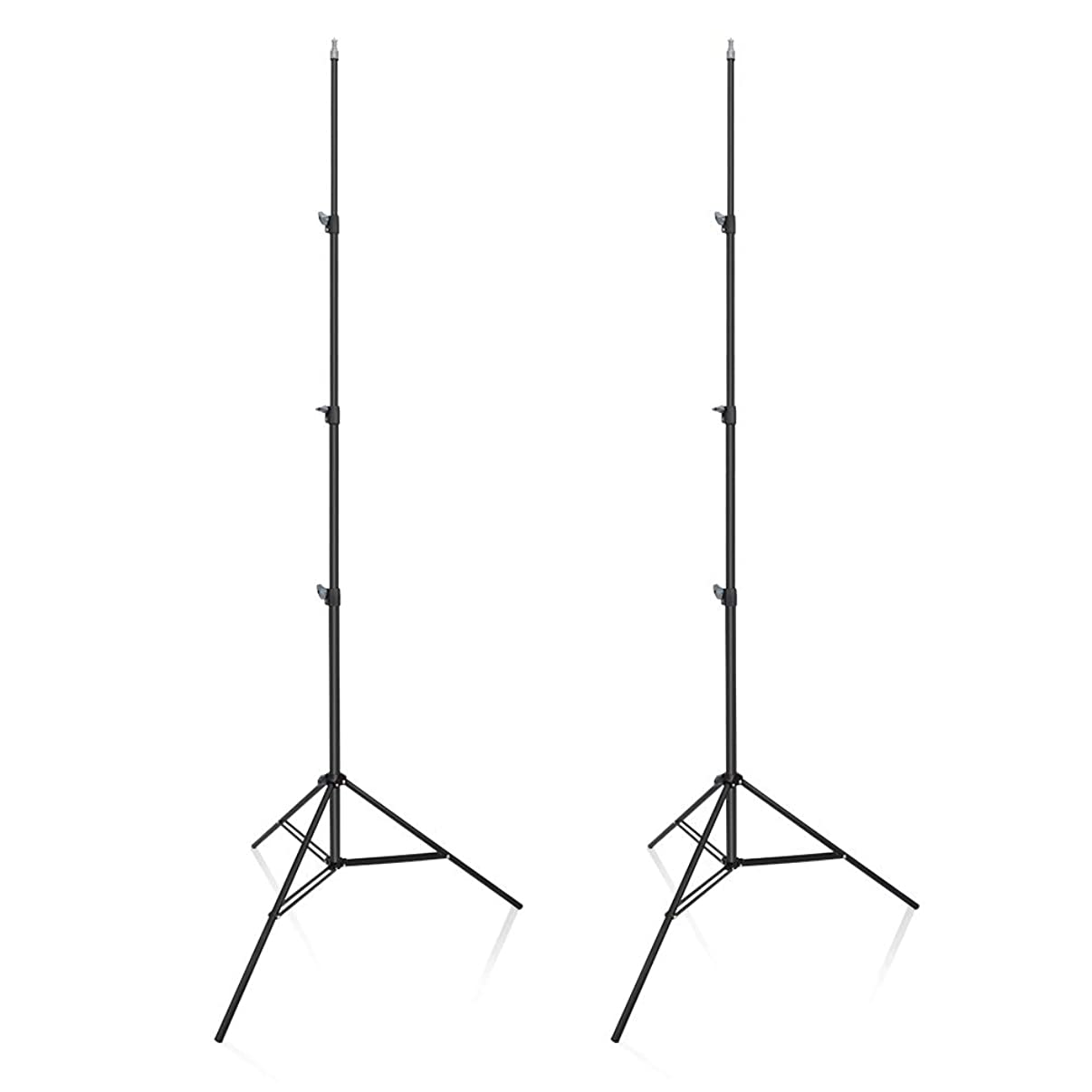 UTEBIT 10 Foot Premium Heavy Duty Light Stand 2 Pack Frosted Material with 1/4 Screw 118 in Tall Photo Flash Reflector Tripod Stands Kit High Adjustable 90-300cm for Camera Photography Video Studio