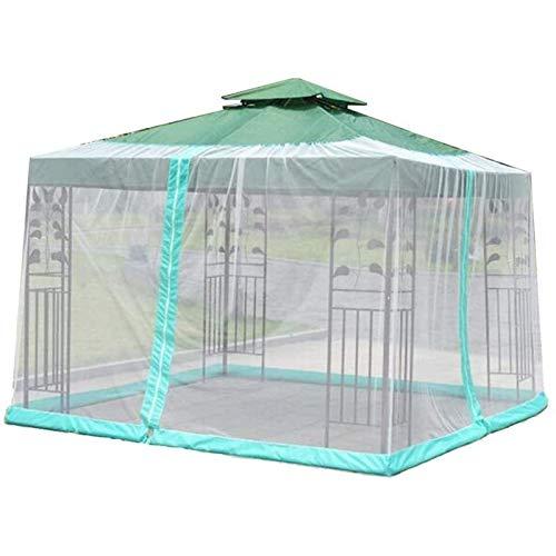 DXYSS Paraguas Mosquitera para Gazebo – Jardín Exterior Cubierta de la Red sombrilla del Mosquito por los Muebles del Patio con Cierre de Cremallera