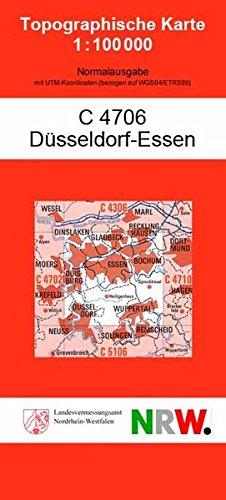Düsseldorf-Essen: (N) (Topographische Karte NRW 1:100000 (TK 100)  (amtlich) / Normalausgabe (N): Grundriss, Gewässer, Höhenlinien, Vegetation, teilweise Schummerung)