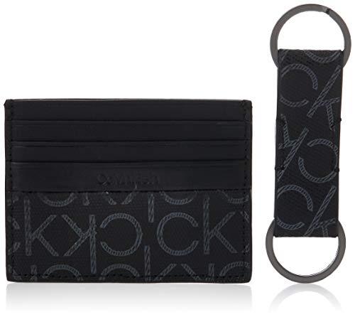 Calvin Klein Mono Porta carte di credito confezione regalo pelle 2pz.