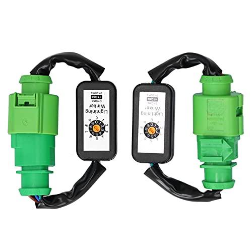 Qiilu LED luces traseras arnés dinámico adaptador de señal de giro Kits de módulo intermitente de 6 pines Plug and Play apto para A3 8V 2013-2018
