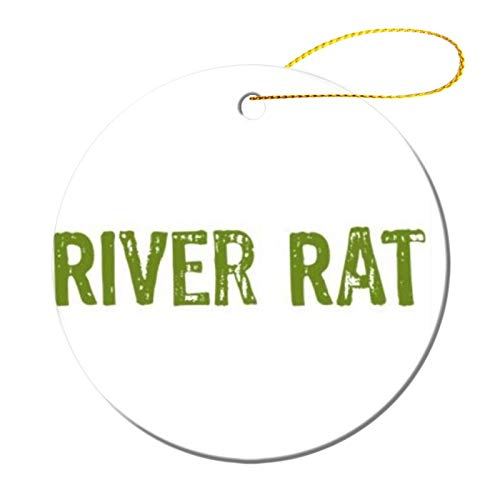 River Rat Christmas ceramic Ornaments Quarantined Tree Hanging Ornaments Friend Survive Novelty Souvenir Christmas Tree Pendant Ornament to Remember This Year!