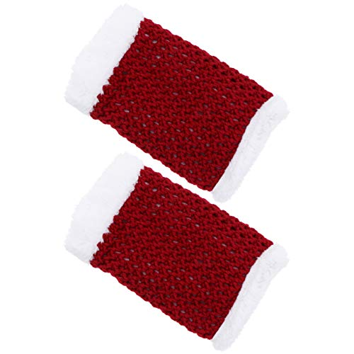 Holibanna Christmas Leg Cuff Holiday Festival Knit Rodilla Pierna Calentadores Mujeres Invierno Tejido Manga Pierna Calentadores para Mujeres Niñas