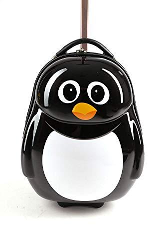 Cuties and Pals Kinderkoffer Kindergepäck Kinder Reisegepäck Kindertrolley Koffer Trolley Handgepäck (Pinguien, Koffer)