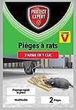 PROTECT EXPERT VICTOR RATAP2 Pièges À Rat - 2 Tapettes Plastiques - Rapide, Précis Et Faciles A Utiliser
