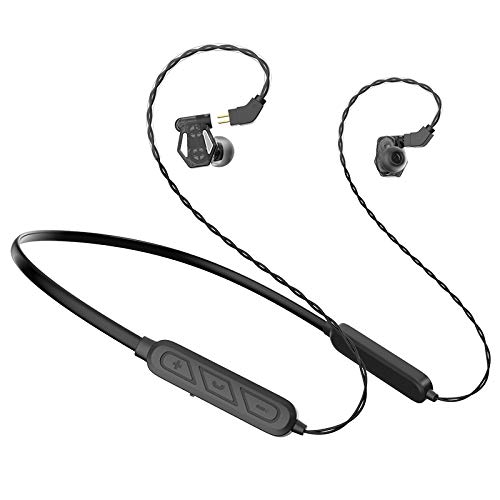 Wivarra Auriculares, Auriculares Deportivos VD2 HiFi Heavy Bajo Auriculares Intrauditivos con MicróFono para Android / MP3 Negro
