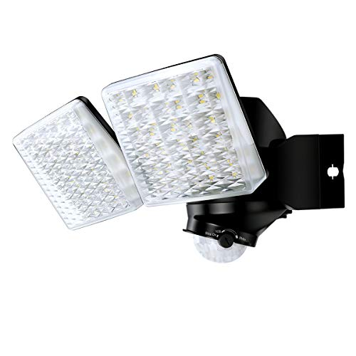 STASUN 20W LED Strahler mit einstellbarem Bewegungsmelder, 180° Erfassungswinkel, 2000LM, 5000K Tageslichtweiß, Wasserdichtes Flutlich