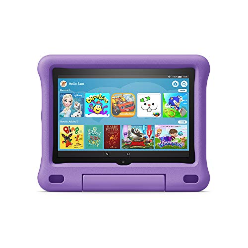Fire HD 8 Kids Edition tablet | 8' HD display, 32 GB, Purple Kid-Proof Case