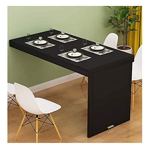 SYJH esstisch an der Wand, klapptisch massivholz, klapptisch wandmontage, Wand esstisch Für Wandmontage, klapptisch zur wandmontage(Color:schwarz,Size:90×50×75cm)