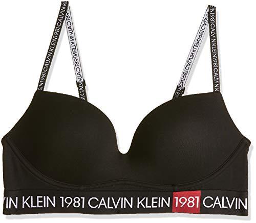 Calvin Klein Sujetador Push Up Inmerion 1981 Negro