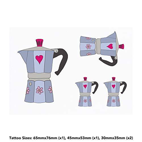 Azeeda 4 x 'Kaffeemaschine' Temporäre Tätowierungen (TO00033893)