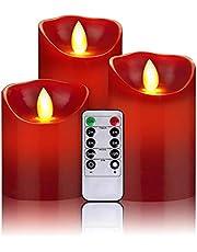 LED-kaarsen vlamloze kaarsen 300uur decoratieve kaarsen zuilen 10-toetsen afstandsbediening met 24 uur timerfunctie