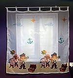 Gardinen JAKE UND DIE NIMMERLAND PIRATEN Teil 150 cm B x 157 cm L Kinderzimmer Vorhang DISNEY