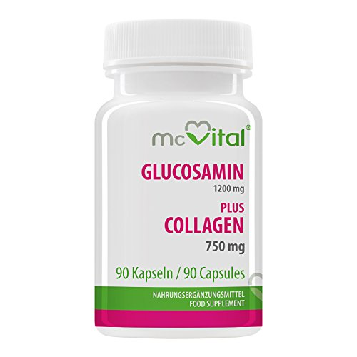 McVital Glucosamin 1200 mg - plus Collagen 750 mg • 90 Kapseln • Gelenkschmiere