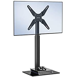 Amazon Brand-Eono by Amazon Universal for 19-60 inch LED LCD QLED OLED TV Stand with 70 Degree Swivel, Height Adjustable,VESA MAX 400x400mm,Holds up to 30KG