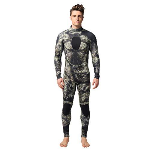 Wenchuang Muta Monopezzo Uomo, Full Muta da 3 mm Camuffare Termico con Cerniera per Snorkeling, Subacquea e Altri Sport in Acqua (Style#1, M)