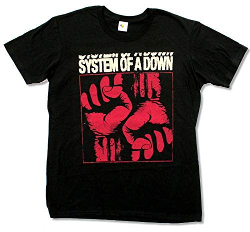 System of A Down Fists Black T Shirt New Official
