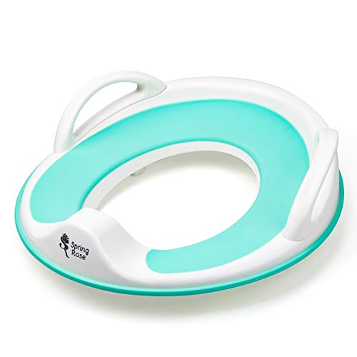 Potty Training Seat with Handles | Comfortable for Boys and Girls | Slip-Resistant with Splashguard and Hanging Hook | Portable for Travel | Easy to Clean | Designed with Handles and Anti Slip Grips
