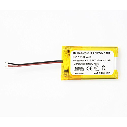 Fenzer Replacement 330mAh Battery for Apple iPod Nano 1st 1 Gen Generation