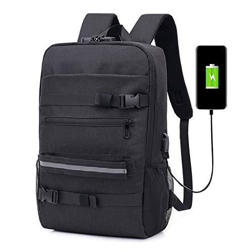 DLH Zakelijke Rugzak, USB Opladen Reistas - Polyester Draagbare Ademende Tas - Reizen Casual Student Rugzak - Rugzak Capaciteit 20-35L