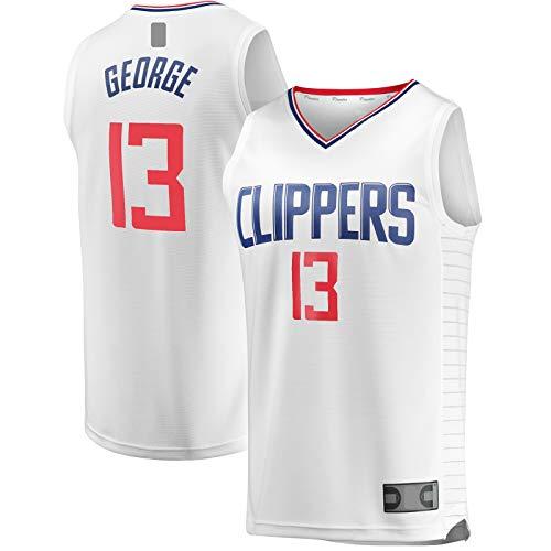 MAYAL Traning Jersey Paul al aire libre George Camiseta de baloncesto LA Top sin mangas Clippers Blanco - #13 Fast Break Jersey Asociación Edición XXL