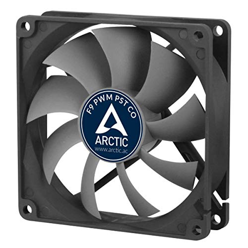 ARCTIC F9 PWM PST CO - 92 mm PWM PST Gehäuselüfter für Dauerbetrieb, Case Fan mit PST-Anschluss (PWM Sharing Technology), Doppelkugellager, Reguliert RPM synchron, 150-1800 U/min.