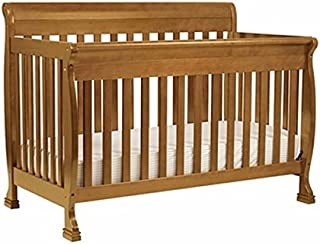 DaVinci Kalani 4-in-1 Convertible Crib Set with Full/Twin Size Rail Conversion Kit in Chestnut