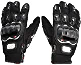Ossden Probiker Daily Use Carbon Fiber Full Finger Hand Protective Racing/Driving/Riding Gloves (Black, XL, 1 Pair)