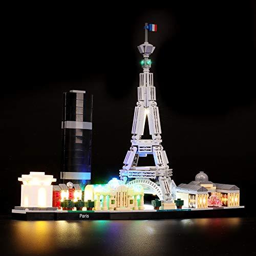BRIKSMAX Led Beleuchtungsset für Lego Architecture Paris, Kompatibel Mit Lego 21044 Bausteinen Modell - Ohne Lego Set