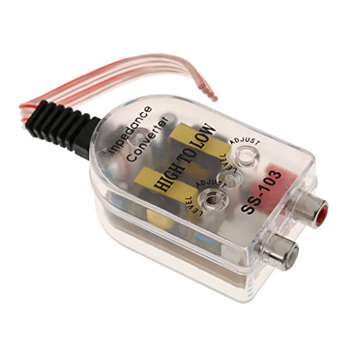 Auto Hoch Zu Niedrig Impedanz Konverter Adapter Impedanzwandler Lautsprecher Zu 2 Kanal RCA Adapter