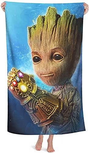 YOMOCO Groot Guardians of The Galaxy - Toalla de playa para hombres y mujeres, toalla de baño, microfibra, multiusos, secado rápido (Groot4,70 cm x 140 cm)
