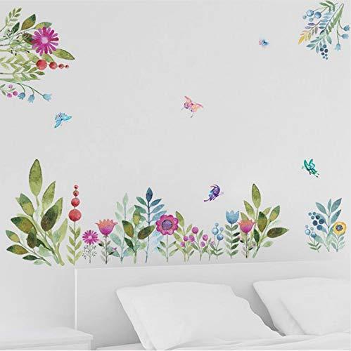 Wuyii muurstickers, kleurrijk, lente, bloemen, TV, sofa, decoratie, vogels, vlinders, 3D, tuin, decoratie voor bruiloft
