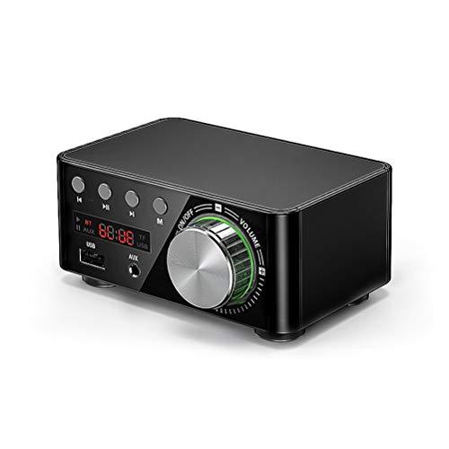 KDLK TPA3116 Mini Amplificador De Sonido 5,0 Amplificadores Bluetooth Amplificador De Audio Estéreo HiFi 50W + 50W USB TF MP3 Sistema De Cine En Casa (Color : Black)