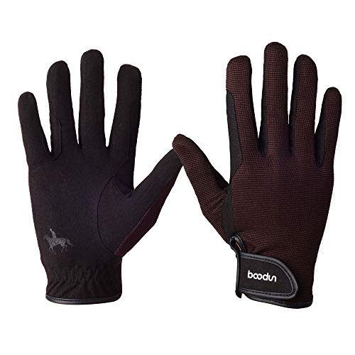 WDEC Reithandschuhe, Unisex Erwachsene, Reithandschuhe Atmungsaktiv, Touchscreen Handschuhe, für Radfahren, Reiten und Outdoor Aktivitäten, Reithandschuhe Professional (Mittel)