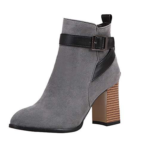 Damen Stiefel Staresen High Heels Stiefeletten Winterschuhe Frauen Zipper Booties Elegant Winterstiefel Mode Hochhackige Schuhe