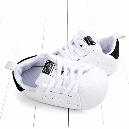 UOMOGO® Scarpine neonato Primi Passi Sneaker bambini e Ragazze Estate Bambina Scarpe Sandalo 3 a 18 Mesi - Casual (Età: 0~6 Mesi, Nero)