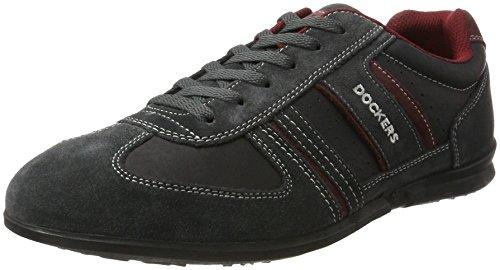 Dockers by Gerli Herren 34sa801-201 Sneaker, Schwarz (Asphalt/Rot), 43 EU